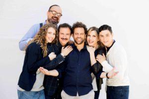 Cuccarini-Ingrassia foto di gruppo con regista