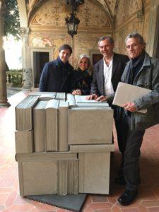 Sindaco Nardella con Ad Giunti Montanarini e artisti