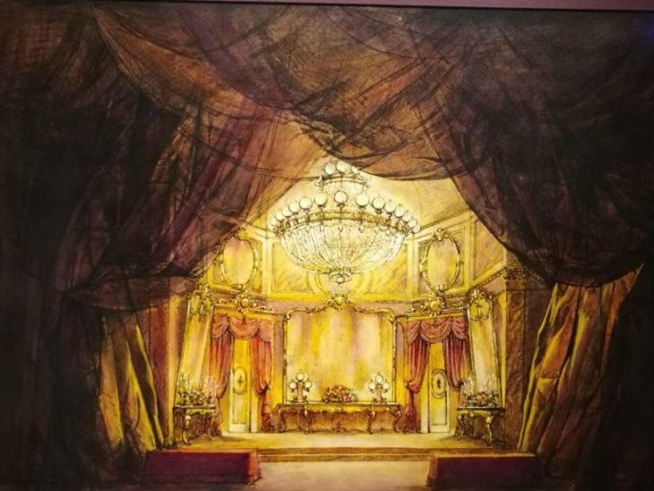 Il bozzetto di Zeffirelli per una scena de La Traviata_preview