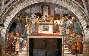 Raffaello, La Giustificazione di Leone III, Stanza dell'Incendio di Borg…