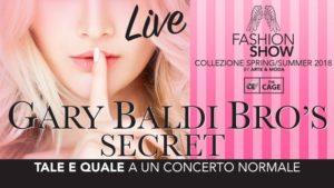 Banner Gary Baldi Fashion Show CAGE