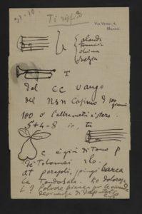 Giacomo Puccini, Lettera a Carlo Marsili con rebus, 31 gennaio 1910 bassa