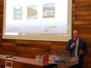 Il Direttore degli Uffizi Eike Schmidt durante la conferenza stampa