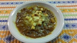 Zuppa di Cipolal di Certaldo – foto pagina Facebook Cipolla di Certaldo in sagra