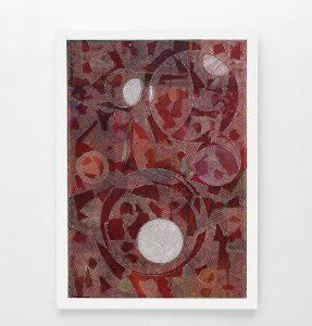 L. Carboni, L'OCCORENZA DEL VENTAGLIO, 2017, acrilico e olio su tela, 250×180 cm