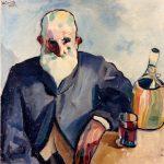 Primo Conti, Vecchio all'osteria (Vecchio con il fiasco), 1915