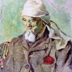 Primo Conti, Vecchio dal turbante bianco, 1913