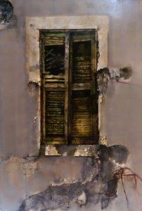 Vespignani Renzo, olio su tela, cm 145 x 100