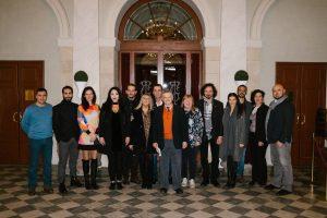 Il cast dell_operetta SI di Mascagni al Goldoni (Foto leggera)