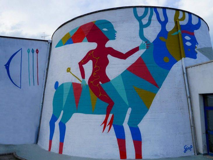 Il murale di Diana opera di Gio Pistone – Foto Massimiliano Gionti di Inutile Comunicare