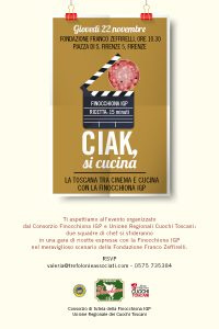 Invito Ciak si cucina Finocchiona IGP