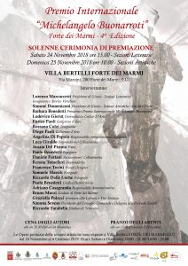 MANIFESTO IV Edizione Premio Internazionale Michelangelo Buonarroti