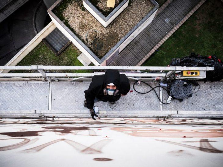 Murale Il condominio dei diritti fase preparatoria 3 foto Francesco Niccolai ok