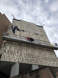 Murale Il condominio dei diritti fase preparatoria 9 pic