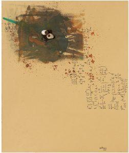 Senza titolo(Bricolage)tecnica mista su carta, 1967, cm 57×46,5