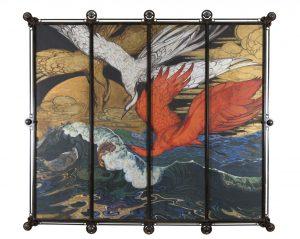 Galileo Chini_Onde damigelle di Numidia e scorfano_1910-15c_olio su tavola_200x240cm