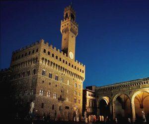 Palazzo Vecchio di sera