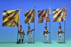 soldatini bandiere russe