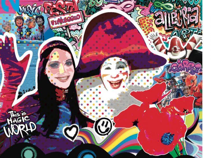 Manifesto promozionale Carnevale di Viareggio 2019 di Nicoletta Poli