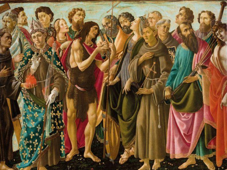 Botticelli Incoronazione della Vergine. I Santi