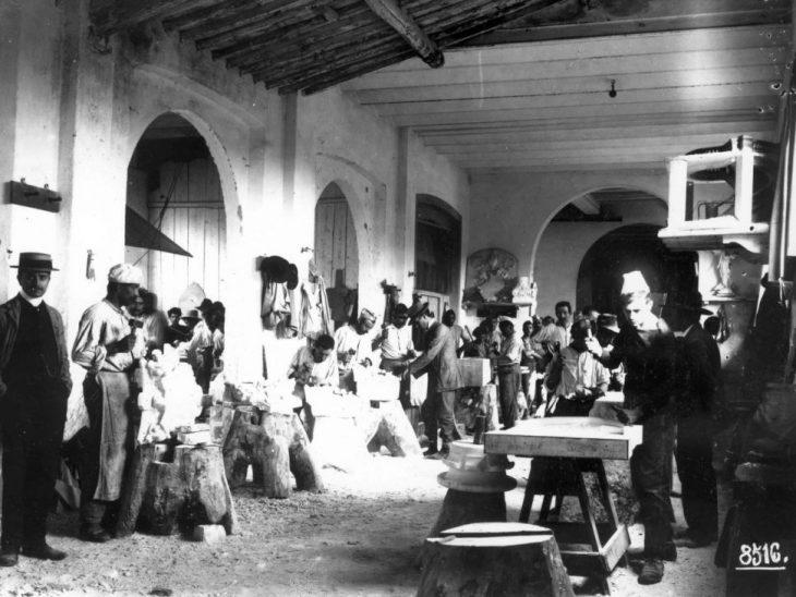 Foto storica laboratorio Barsanti
