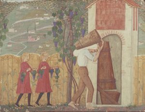 002-Alberto-Magri-La-vendemmia-1912-trittico-tempera-su-tavola-coll.-privata