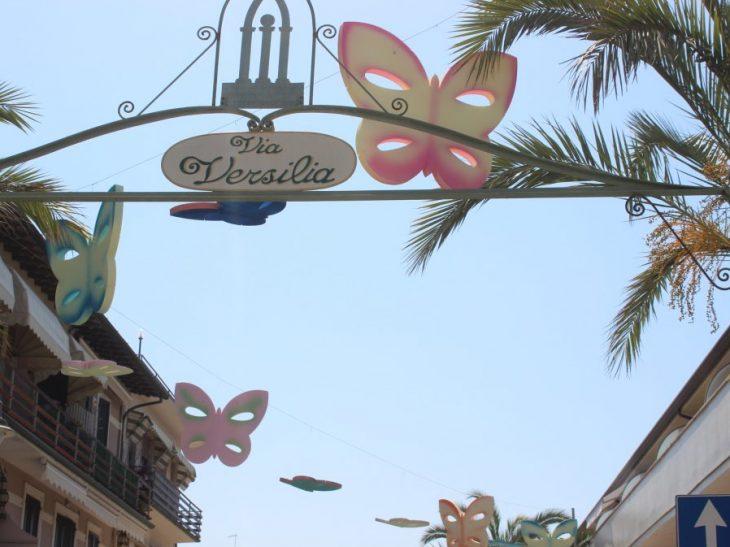Foto farfalle in via Versilia