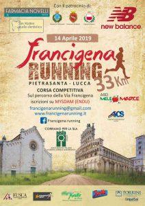 Locandina Francigena Running