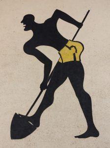 Marcello Guasti, Uomo che lavora, xilografia, 1954-55
