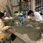 Preparazione di modelli per la masterclass intitolata Cartapesta e doratura, tecniche antiche per nuovi elementi scenici realizzata presso lo Spazio NOTA di Firenze