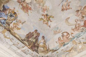 Villa Mirabello affresco salone con stemma Finocchietti set18