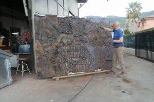 Foto plastico in bronzo Lucarini