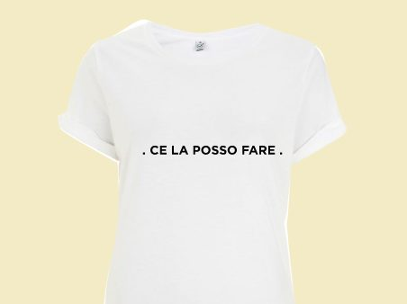 Una delle t-shirt in palio per i sostenitori