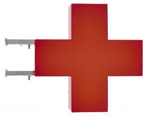 Maurizio CATTELAN croce rossa 1997