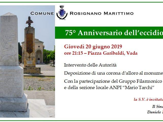 Commemorazione Eccidio di Vada 2019