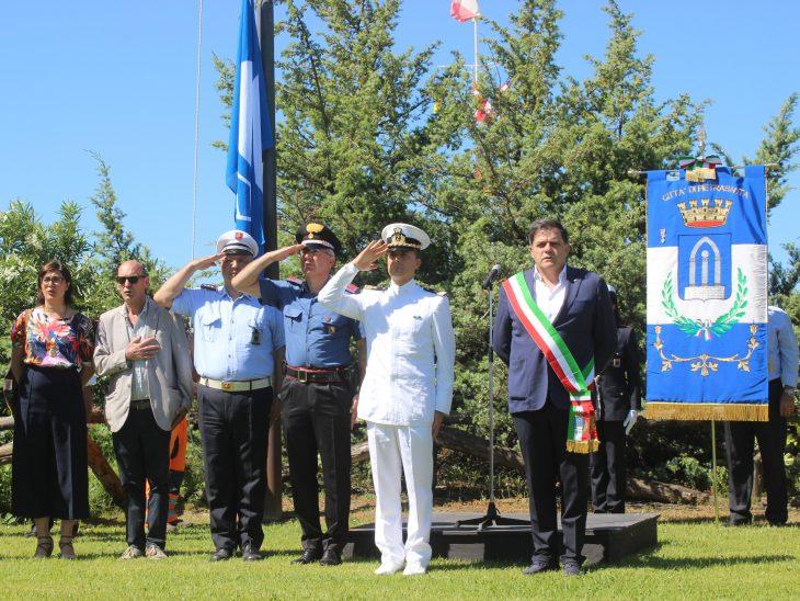 Foto cerimonia bandiera blu