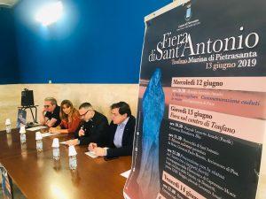 Foto presentazione Sindaco Festa S Antonio Tonfano 2019