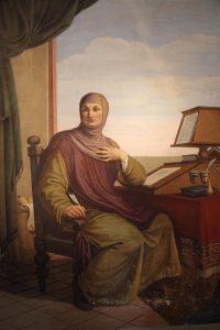 Giovanni Boccaccio – ritratto opera di Pietro Benvenuti in Casa Boccaccio a Certaldo – 1825 ca