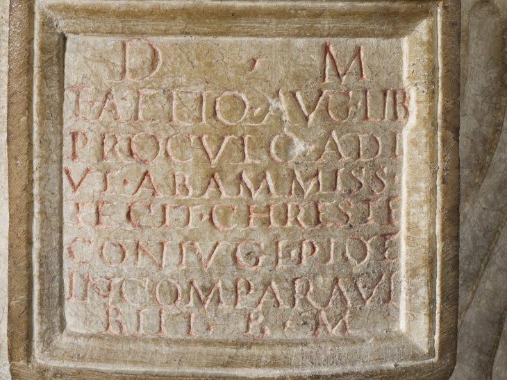 Iscrizione funeraria di Elio Proculo