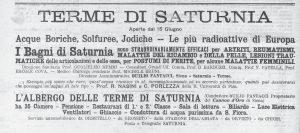 Pubblicità sul periodico grossetano L'Ombrone, 24 giugno 1923