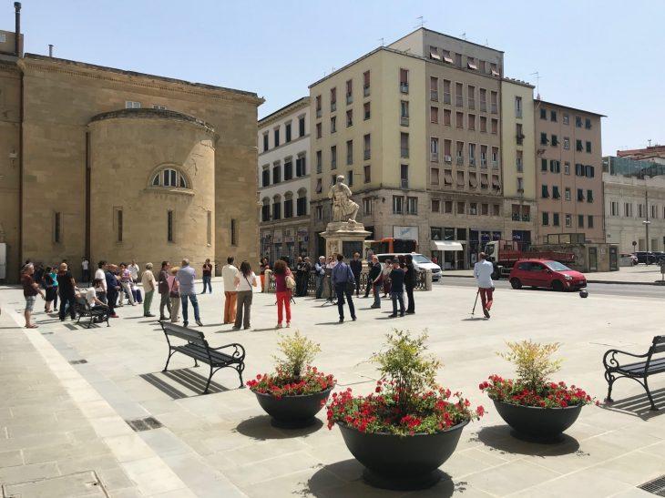 piazza guerrazzi riqualificazione inaugurazione 7 giugno 2019