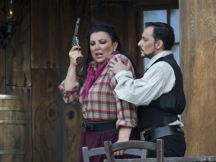 Festival Puccini 2019- Minnie Maria Guleghina e Dick Johnson Alejandro Roy- foto la bottega dell'Immagine per Festival Puccini
