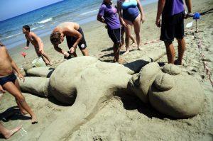 Foto gara scultura sabbia