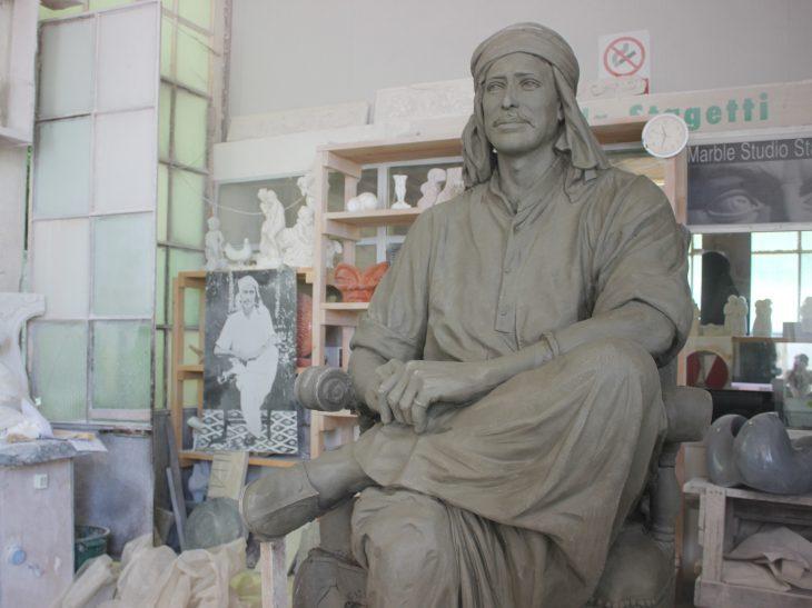 Foto scultura santone indiano