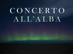 copertina concerto all'alba
