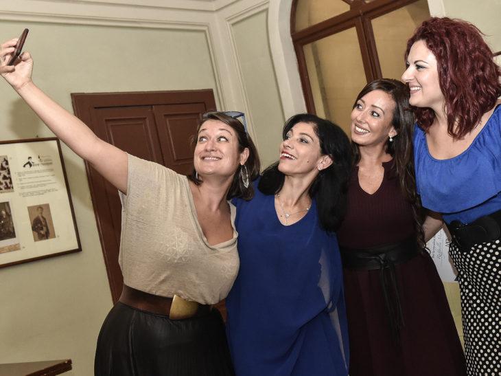 01 Le vincitrici del Premio Bianca Maria Galli al Goldoni dopo la premiazione