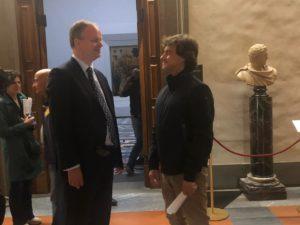 Alberto Angela con il Direttore degli Uffizi Eike Schmidt