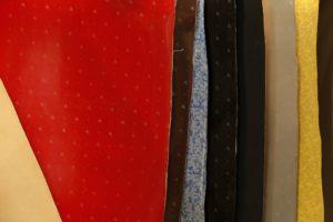 Esempi di finiture in varie textures moda