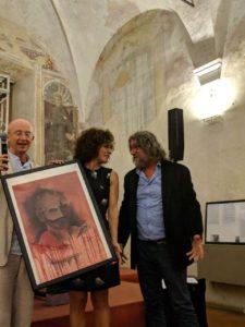 Foto Premio Miglior Attrice a Lidia Vitale in Soubrette di Marco Mingolla, disegno di Massimo Facheris