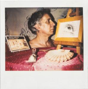 Luca Patella dis-enameled 2, 1989, Polaroid 10×10 cm